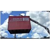 locação container obra valor Santa Efigênia