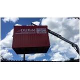 locação container para obra preço Louveira