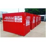 locação de container canteiro de obra Jardim América