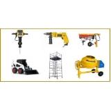 locação de equipamentos de construção na Luz
