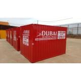 onde encontro container para canteiro de obras Luz