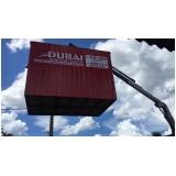 onde tem locação container para obra Parque São Rafael