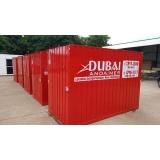 onde tem locação de container para obras Santa Efigênia