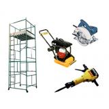 locação de equipamentos de construção