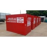 locação de container para obras preço Cidade Dutra