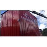onde encontro locação container para obra Santa Isabel